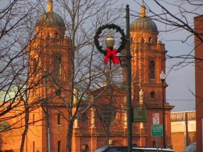 St Lawrence Basilica at Christmas