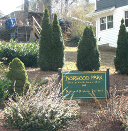 Norwood Park Sign